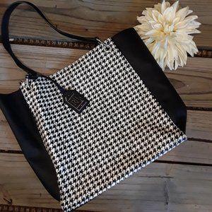 VGW-Lauren Ralph Lauren black white tote bag